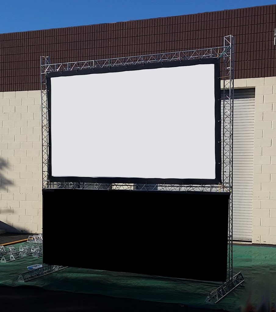 10ft Indoor and Outdoor Cinema Screen for hire