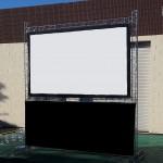 10 Foot Indoor or Outdoor Cinema Screen - For Hire
