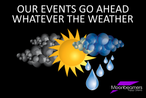 Our events go ahead whatever the weather