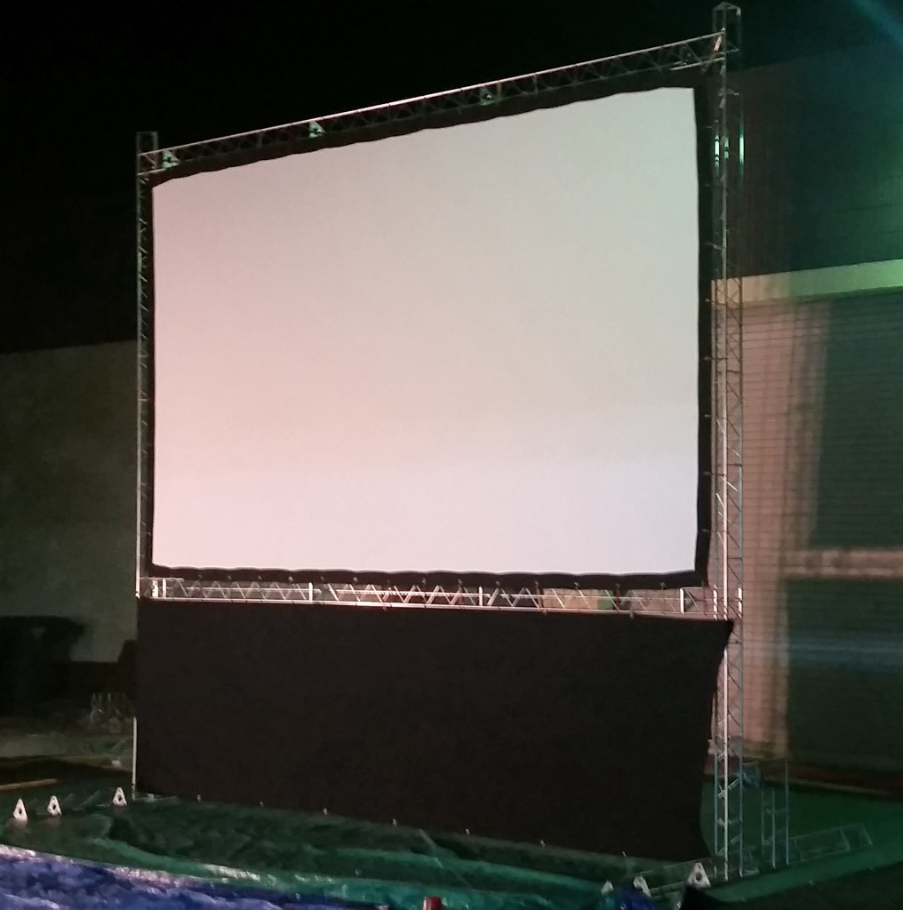 16ft Indoor and Outdoor Cinema Screen for hire