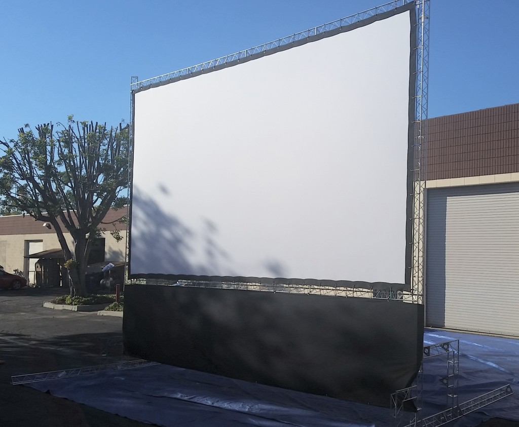 21ft Outdoor Cinema Screen for hire
