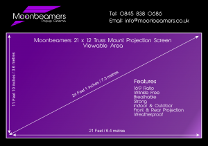 21 x 12 projection screen specification