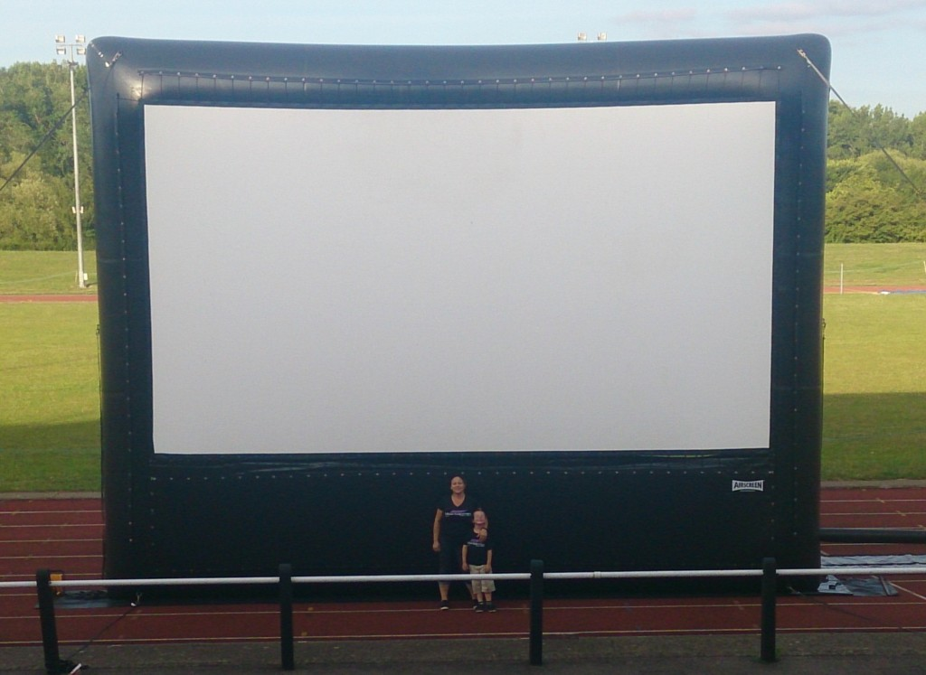 30ft Inflatable Outdoor Cinema Screen for hire