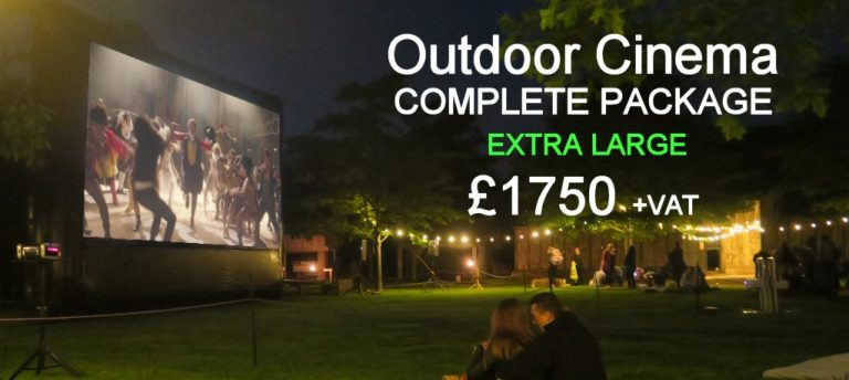 Outdoor Cinema Hire – Extra Large | Moonbeamers Popup Cinema