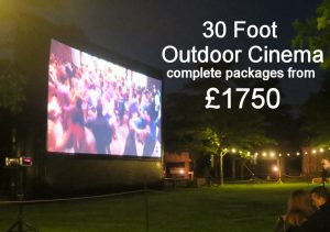 outdoor cinema hire packages
